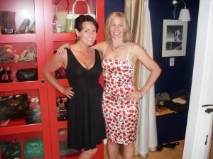 Ericka in Diane Von Furstenberg; Kami in Dolce & Gabbana