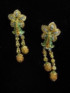 Pineapple Tree Drop Earrings